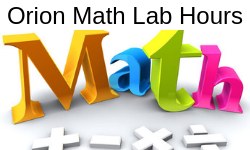 Orion Math Lab Hours